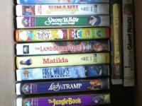Lot of 70 Kids VHS Tapes.  The Pebble and the Penguin.