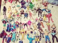 This is a huge lot of loose used action figures. They