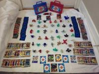 HUGE LOT OF 43 BAKUGAN'S AND OTHER ITEMS!  3 SHELVES TO