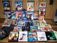 Huge lot of DVD movies for sale. All movies come with