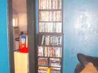 WE have a huge collection of dvds and blue-ray dvds,