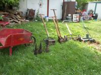 I have for sale some antique items such as hand mowers,