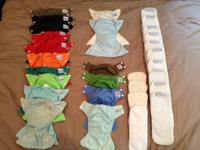 Big Lot of 10 SMALL Fuzzibunz Cloth Diaper covers, 2