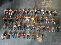 I have a huge lot of 45 different wrestling figures.