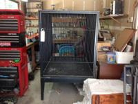 This is a 400lb. custom built breeder cage. It was