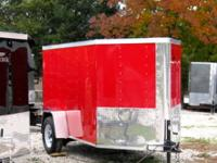 HUGE SALE!!! 5x8 Single Axle V-Nose Cargo Trailer with