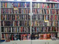 We have a great deal of VHS, DVDs, Blu-Rays and CDs on