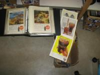Huge Selection of Old National Geographics with Coke