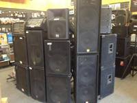 We currently have a huge stock of used speakers.  Our