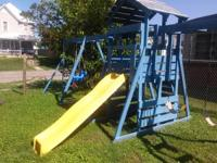 Huge swingset with slide and clubhouse attached..please