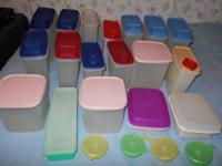 HUGE Tupperware lot! 22 containers in all. All