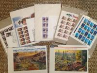 Over 250 U.S. stamps in original packaging purchased
