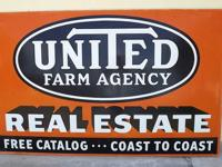 We are offering a Huge Vintage United Farm Agency Metal