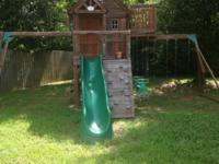 Big Wood Oversized Play Structure Swing Set Playhouse