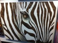 Beautiful zebra painting i bought this at Z-galleria