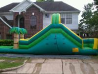 30 ft long, 17ft high, 10 ft wide ....waterslide for