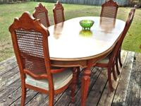 Vintage Drexel Sandia Dining Room Table & Chairs,