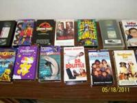 $15.00 cash for the whole lot of VHS movies: - Home