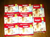Hey there,.  I have (8) Huggies Snug & Dry Size 6