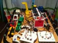 Includes the table, Monorail set, Fire and Rescue set,