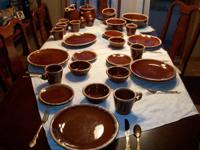 Wonderful Hull U.S.A. Oven Proof pottery dinner sets,