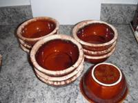 SOUP BOWLS WITH HANDLES AND LIDS-4 LARGE SERVING BOWLS