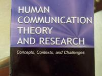 Human Communication Theory and Research -$20 It's in