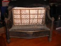 Humphrey Radiant Fire Antique Gas Heater - gold and
