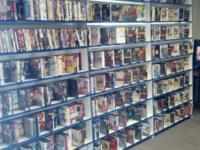 We have hundreds of DVDs readily available along with