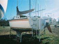 No Text! Great Fixed Keel Sailboat wit 9.9 Hp motor,