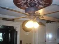 NICE 50'' CEILNG FAN NICE COLOR STILL IN USE VERY QUITE