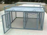 Steel (Not To Heavy Dog Boxes) They Can Be Made Single