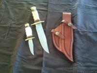 "Timber rattler knives: One with a 7 1/4"" blade, the"
