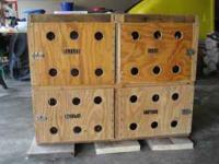 4 Stall homemade wooden dog box for sale. In good shape
