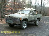 1984 toyota 4x4.Bought to use on my land to hunt out of