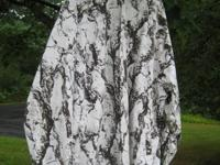 White camo (white natural) hooded jacket and pants,