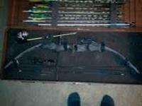 Darton Woodsman Compound Bow. 45-75 pound Complete with