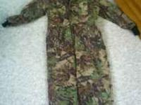 Polarfleece one piece camo coveralls they fit me I'm 5'