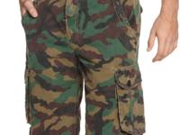 Camo got tagged on these cargo shorts by Hurley to give
