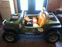 Have a like new Hurricane Jeep 12 volt ride on toy--the