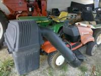 This is my early 200 huskavara riding lawnmower it is