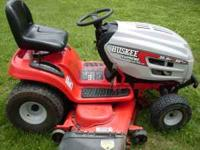 "Huskee Supreme 25hp 50"" deck hydrostatic lawn tractor."