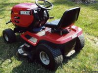 Selling a Huskee mower ... 46 inch cut ... used 1 1/2