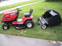I am selling my Huskee automatic riding lawn mower that