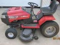 I am selling my late 90s Huskee lawn tractor, it has a