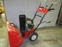 "24"" Huskee Snow Blower with 5.5 HP 4-cycle Tecumseh"