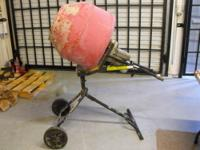 This is a pre-owned, Husky 1/2Hp Portable Cement Mixer
