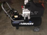 I have a like new Husky Air Compressor for sale. Dials