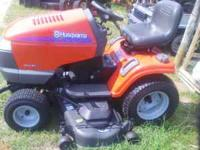 "Husqvarna Lawn and Garden Tractor, 54"" mower deck, Auto"
