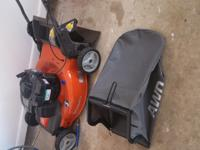 Essentially new mower. Bought at Lowes on 14 Apr 15 for